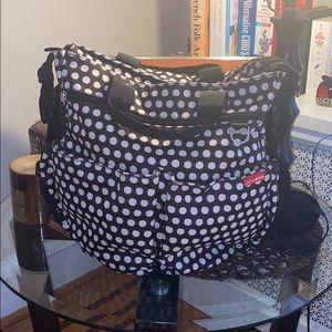 Skip Hop Diaper Bag Black/White Polka Dot